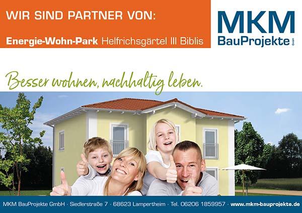 MKM Bauprojekte Energie-Wohn-Park Biblis ist Partner der ALFA Treppen e.K.